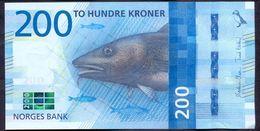 Norway 200 Kroner 2016 UNC P- 55 - Norway