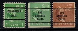 "USA Precancel Vorausentwertung Preo, Locals ""LOS ANGELES"" (CALF). 3 Différents; - Preobliterati"