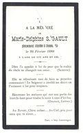 Image Mortuaire - Dommartin Les Toul (Meurthe Et Moselle) - SEGAULT Marie Delphine (1877-1888) - Décès