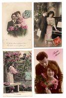 COUPLE . 4 CARTES POSTALES - Réf. N°18609 - - Couples