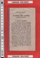 1 Heft Bruderschaft Zu Ehren Des Hl Abtes Leonhard Bisthume Regensburg - Aufnahmszeugnis 1895? [Devotionalie] * (2354) - Images Religieuses