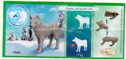 BPZ120 France : Ref : TR002 Série Animaux Polaires Loup - Notices