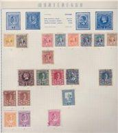 MONTENEGRO Collezione Periodo Antico 28v Montati Su Pagine / Usati - Montenegro