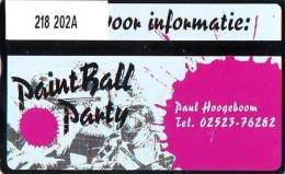 Telefoonkaart  LANDIS&GYR  NEDERLAND * RCZ.218  202A * Paint Ball Party * TK *  ONGEBRUIKT * MINT - Privé