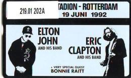 Telefoonkaart  LANDIS&GYR  NEDERLAND * RCZ.219.01  202A * Elton John * Eric Clapton * TK *  ONGEBRUIKT * MINT - Personen