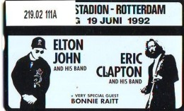 Telefoonkaart  LANDIS&GYR  NEDERLAND * RCZ.219.02  111A * Elton John * Eric Clapton * TK *  ONGEBRUIKT * MINT - Personen
