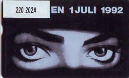 Telefoonkaart  LANDIS&GYR  NEDERLAND * RCZ.220  202A * Michael Jackson  * TK *  ONGEBRUIKT * MINT - Muziek