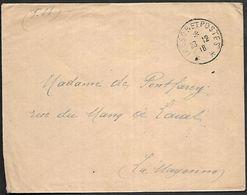 CM 220  Correspondance Militaire 20-12-18 Cachet Trésor Et Postes Simple Cercle Sans N°(SP) - Poststempel (Briefe)