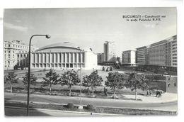 Romania Bucaresti  Constructii Noi în Piata Palatului R.P.R. Non Viaggiata - Romania