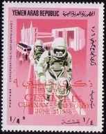 Yemen Repub. 1966, Mi 535, Space, Overprint, Gemini IX, Overprint,  MHN** - Space
