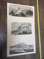 1870/1871 GRAVURE VUE DE LA FORTERESSE DE BITCHE LICHTENBERG LUTZELSTEIN - Collections