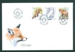 Aland. FDC 2004. Animals. Ermine.Marten.Red Fox. Scott# 218-19-20 - Aland