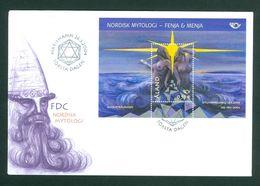 Aland. FDC 2004. Souvenir Sheet. Nordic Mythology . Scott# 247 - Aland