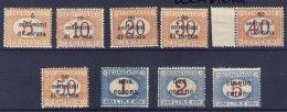 1919-(MLH=*) Trento E Trieste Segnatasse S.9v. (i Due Alti Valori Con Leggera TL=light Hinge) - 8. Occupazione 1a Guerra