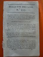LOI 355 NAPOLEON 1er MESURES POUR L'AMELIORATION DES  BÊTES A LAINE - Decreti & Leggi