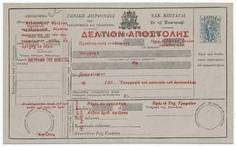 Greece Griechenland PS Parcel Postal Card (7) - Entiers Postaux