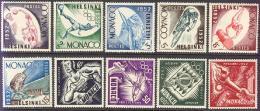 "1952-(MNH=**) Monaco S.10v."" Olimpiadi Di Helsinki""cat.Yvert 2013 Euro 100 - Estate 1952: Helsinki"