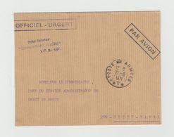 """LSC 1971 -  Cachet POSTE Aux ARMEES  + Griffe AVISO ESCORTEUR """" COMMANDANT RIVIERE """" - Marcophilie (Lettres)"""