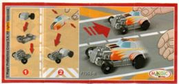 BPZ128 France : Ref : FT051B Voitures Hot Rod / Hot Rod Blanc N°62 - Instructions