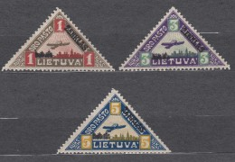 Lithuania Litauen 1922 Mi#118-120 Mint Hinged - Lithuania