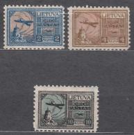 Lithuania Litauen 1922 Mi#121-123 Mint Hinged - Lituanie