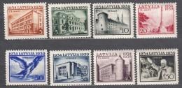 Latvia Lettland 1939 Mi#271-278 Mint Hinged - Lithuania