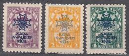 Latvia Lettland 1923 Mi#100-102 Mint Hinged - Lithuania