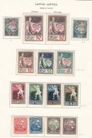 Latvia Lettland 1919/1920 Stamps Page Mi#32, Mi#33-35 Mi#36-39 Mi#40-41 Mi#42-45 A Mint Hinged - Lettonie