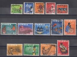 Zambia 1964 Mi#1-14 Used Complete Set - Zambia (1965-...)