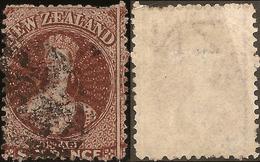 NZ 1862 FFQ 6d Red-brown Inv Wmk SG 108 U #AID168 - 1855-1907 Crown Colony