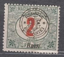 Romania Overprint On Hungary Stamps Occupation Transylvania Porto 1915 Mi#3 II Mint Hinged - Transylvanie