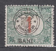 Romania Overprint On Hungary Stamps Occupation Transylvania Porto 1915 Mi#2 II Used - Transylvanie