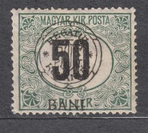 Romania Overprint On Hungary Stamps Occupation Transylvania Porto 1914 Mi#1 I Used - Transylvanie
