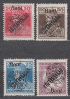 Romania Overprint On Hungary Stamps Occupation Transylvania 1919 Mi#61-64 Mint Hinged - Transylvanie
