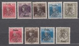 Romania Overprint On Hungary Stamps Occupation Transylvania 1919 Mi#45-49 I And II Overprint, Mint Hinged - Transylvanie