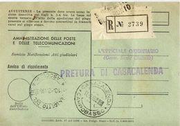 1969 - Amministrazione Della Poste E Delle Telecomunicazioni - Avviso Di Ricevimento Raccomandata - S.benedetto Del Trnt - 1946-.. République