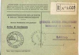 1971 - Amministrazione Della Poste E Delle Telecomunicazioni - Avviso Di Ricevimento Raccomandata 3339 - Vermezzo - Mila - 6. 1946-.. Repubblica