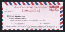 Pakistan 2018 Hajj Pilgrims Mail Postage Prepaid Card - Pakistan