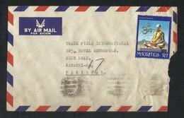 Mauritius Air Mail Postal Used Cover Mauritius To Pakistan Stamp Swami Sivananda - Maurice (1968-...)