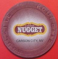 Roulette Casino Chip. Nugget, Carson City, NV. G45. - Casino