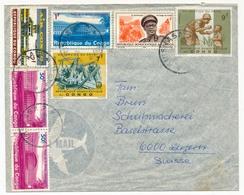 CONGO - Enveloppe Pour Suisse, Affranchissement Composé. - Democratic Republic Of Congo (1964-71)