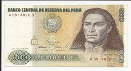 Peru 500 Intis 1985 - Perú