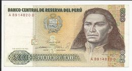 Peru 500 Intis 1985 - Pérou
