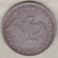 Chili . 20 Centavos 1857. Argent.  KM# 125 - Chili
