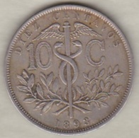 Bolivie. 10 Centavos 1893. Copper-nickel .KM# 174.1 - Bolivie