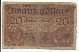 Germany 20 Mark 1918 Have Tape - [ 2] 1871-1918 : German Empire