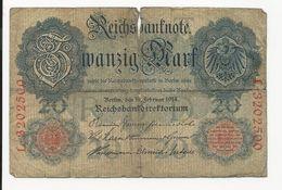Germany 20 Mark 1914 - [ 2] 1871-1918 : German Empire