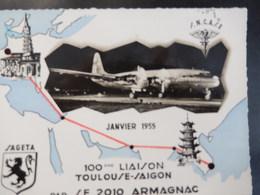 Réouverture De Ligne Aérienne Paris Indochine - Toulouse Saigon Et AEF France - Poste Aérienne