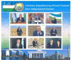 2017. Uzbekistan, President Islam Karimov, Sheetlet, Mint/** - Uzbekistan