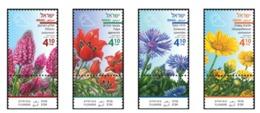 Israel.2018.Spring Flowers.4  V. ** . - Ungebraucht (mit Tabs)